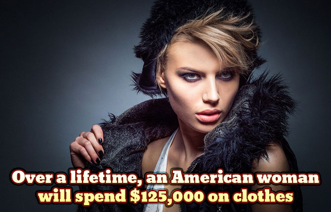 American-woman-sending-on-clothes
