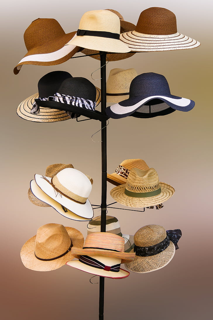 A variety of women's hats